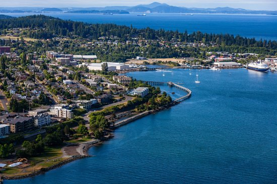 Bellevue, WA: Bellingham aerial view - beautiful shot