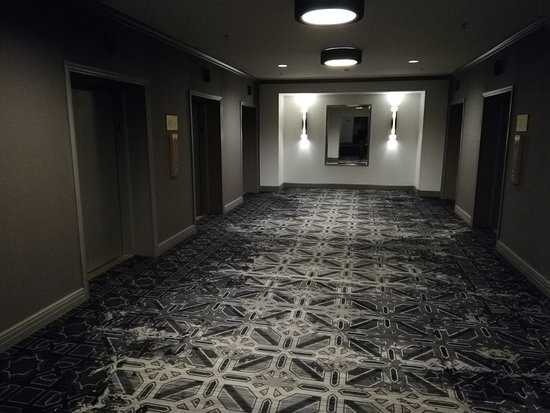 InterContinental Chicago Magnificent Mile: Carpets look bleach stained