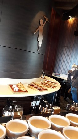 High quality coffee, homemade and delicious sweet treats and great cozy environment