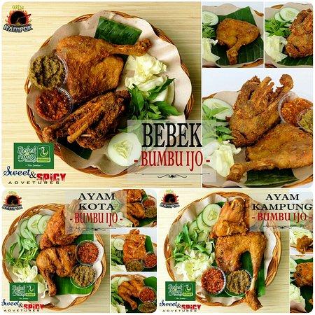 Praya, Indonesia: Ayam & Bebek Bumbu Ijo Asli Enaaak Buangetzz