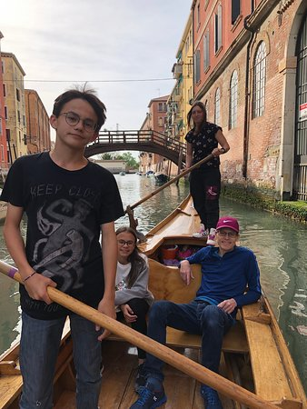 Row Venice: everyone working hard but getting a break to enjoy the stunning canals of canneregio