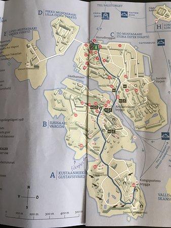 قلعة سومينلينا: Map of the islands