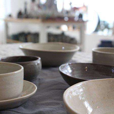Hanoi, Vietnam: Nice work !!!  Handmade ceramic bowls from a member of ceramic class 🤗🤗🤗