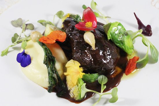 Rao: KOKOTXA: Slow Cooked Acorn Fed Pork Cheek with Puree of Parsnip, Brussels Sprouts, Confit of Mini Turnip