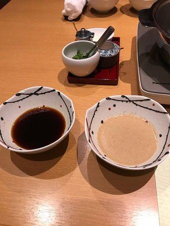 Shinsaibashi Amanoi: น้ำจิ้มและเครื่องปรุง