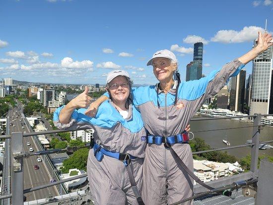 Brisbane Story Bridge Adventure Climb: Top of the Story Bridge! We made it!