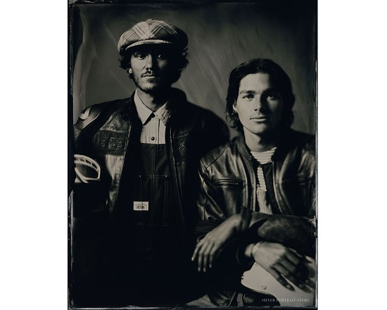 Fraser and Jack Harries - Scan of Silver Portrait Tintype 20 x 25cm. www.silverportraitstore.nl