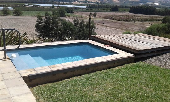 Sunburst farm house has a plunge pool, with a roller lid for safety for little children