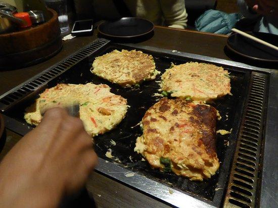 Meine Kimchi Kombination, vorne rechts im Bild, wurde als ausgezeichnet bewertet.