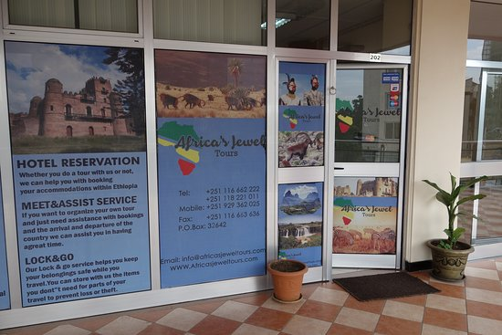 Addis Ababa, Ethiopia: Our office in Adis Abeba. Siham Building 2nd floor, at Bole, St Medhanialem Cathedral Church Road, before Atlas Hotel