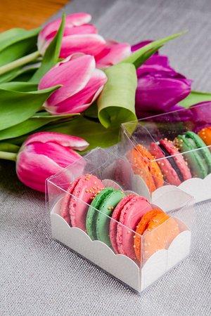 Francuskie słodkie makaroniki
