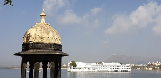 City Palace of Udaipur: View of lake Pichola from the City Palace