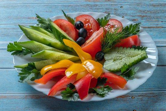 Просто овощная тарелка )