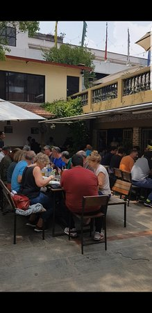 Afternoon Group Dining at the courtyard