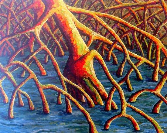 Walking Tree Brewery: Painting inside of brewery