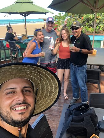 Luquillo Beach Horse Ride from Carabalí Rainforest Adventure Park: Our guides, Straw hat Juan and 4/20 (with sticker) Papon!