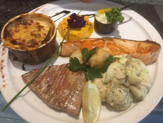 L'Amiral: assiette de poissons grillés