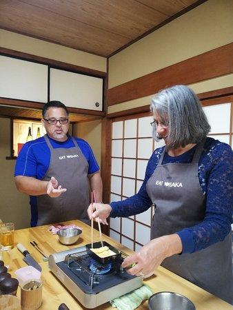 Japanese Omelette making- folding- folding - folding...