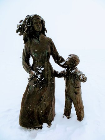 Statues in the snow