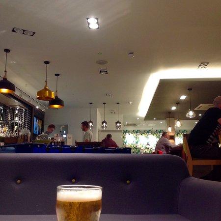 Swanky bar..