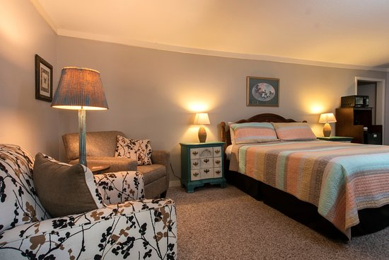 B2 - The McKinley Edwards Room Ground floor room with a king bed, comfortable sitting area and a private balcony.