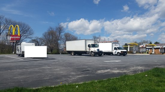 Myersville, MD: Several large pull-thru parking spaces for RV's, Trucks, Trailers, etc.
