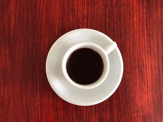 Amazing cup of Geisha coffee.