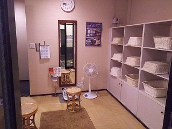 Tonosawa Ichinoyu Shinkan: 塔ノ沢一の湯新館 脱衣所