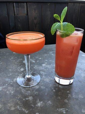 Manolin: Slapshot cocktail on the left