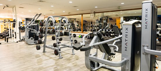 Fully-equipped gym with free-weights, resistance machines and more