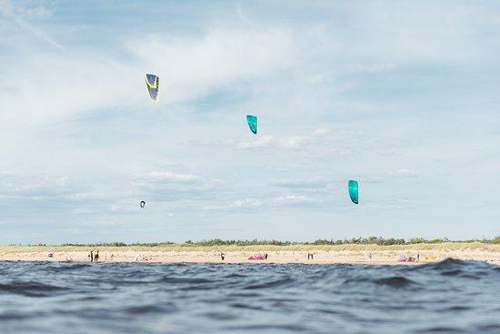 Varberg, Sverige: Kitesurfing