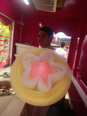 Cotton candy tastes great!