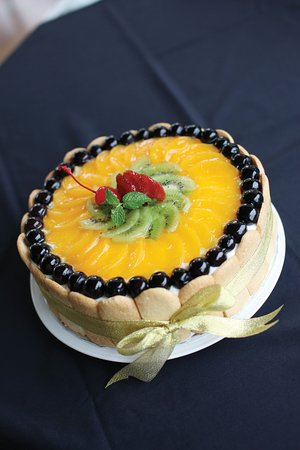 Our Delicious homemade Fruit birthday cake