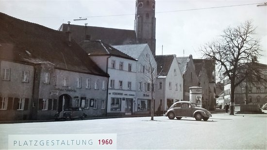 Dingolfing, Germany: Blick auf den Huberbräu.