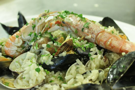 Ristorante Navona Notte: risotto with seafood