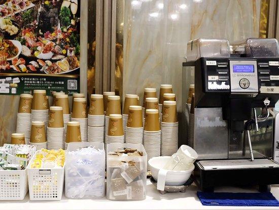 TONO DAIKIYA Japanese Restaurant: 熱水、茶包、咖啡機