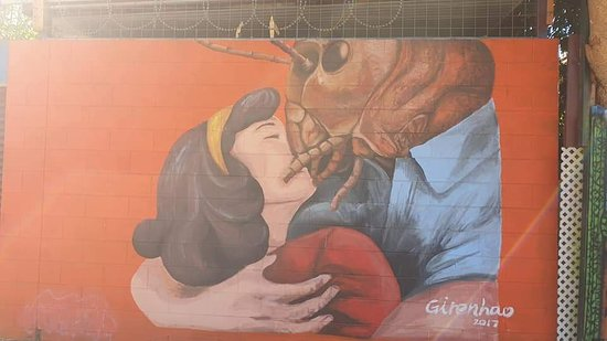 Great artwork at the Jump Inn