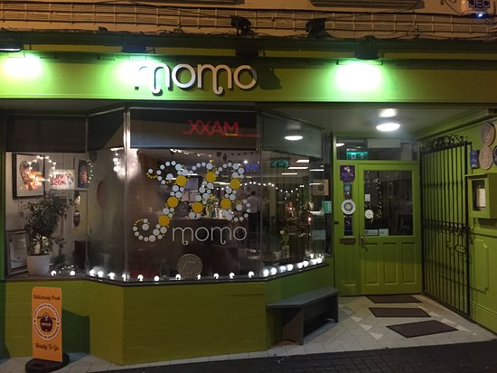 This is Momo's from the street - parking is a little tricky but it is oh so well worth it!!