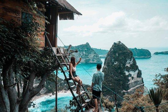 Sanur Kaja, Indonesië: Was für eine unbeschreiblich schöne Aussicht!