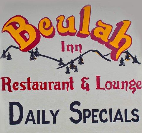 Hand painted Beulah Inn sign