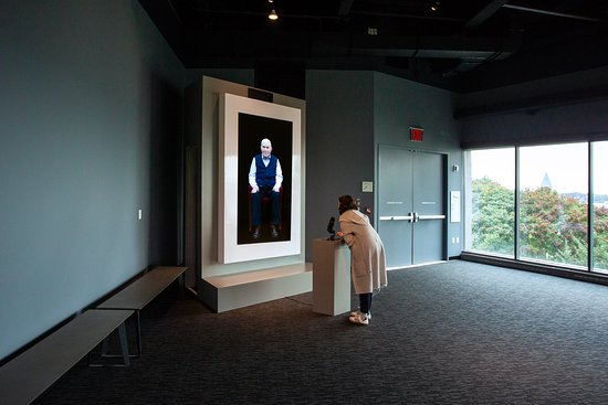 """Have a virtual conversation with Holocaust survivor Pinchas Gutter in our special installation """"Dimensions in Testimony."""""""