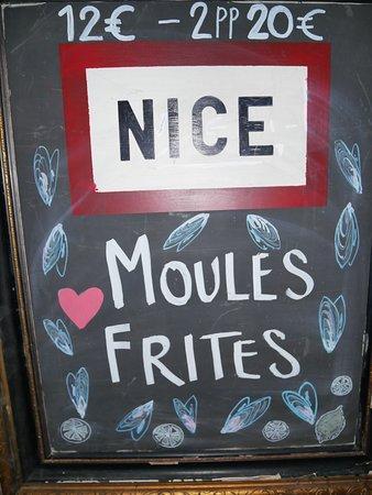 Cafe Nice Bar Bistro Cafe Moules Frites