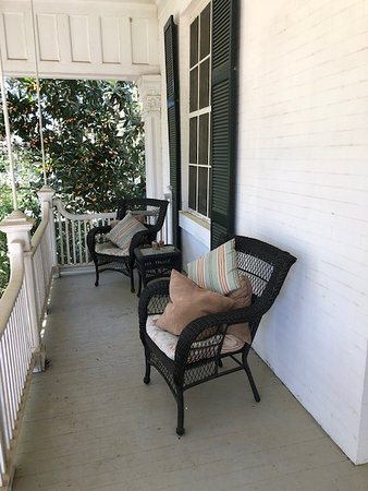 The upstairs front porch where we spent much time in wonderful conversation with the other guests.