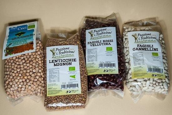 I legumi biologici che racchiudono il sapore della nostra terra sicula