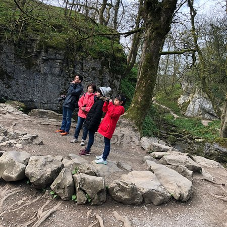 Keiko and family in the Yorkshire Dales at Gordale Scar and Ribblehead Viaduct