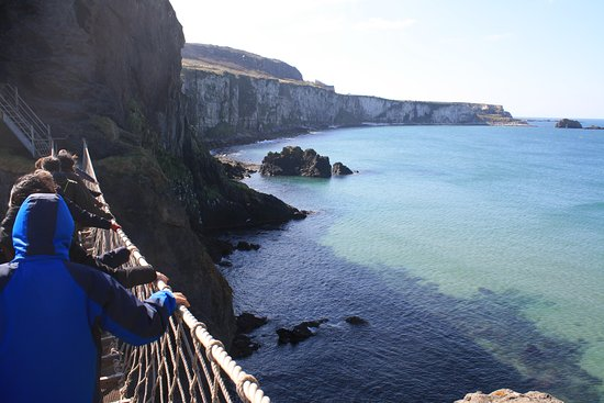Giant's Causeway Premium Day Tour from Belfast (Includes Admissions): Carrick-A-Rede Robe Bridge