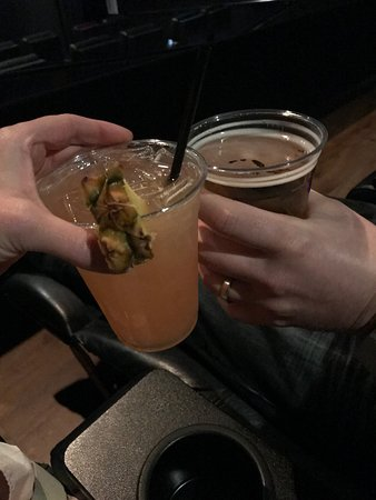 Benton Harbor, MI: Rumrunner and a beer, AT THE MOVIE THEATER!
