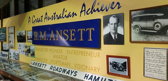 Sir Reginald Ansett Transport Museum Hamilton Vic Ansett Roadways signage
