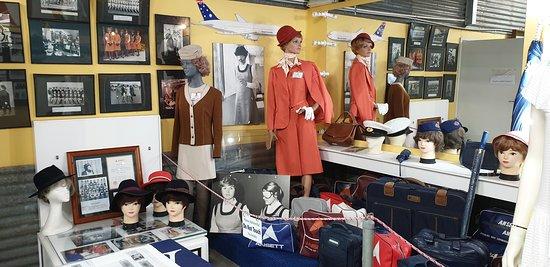 Sir Reginald Ansett Transport Museum Hamilton Vic Hosties uniform and baggage