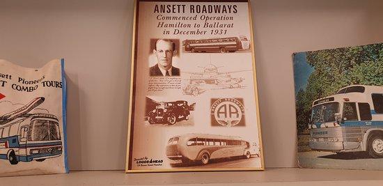 Sir Reginald Ansett Transport Museum Hamilton Vic Ansett Roadways poster
